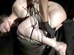 Infernal restraints session with freaky master and Anna Rose BDSM