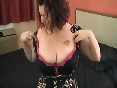 Busty Lactating Babe Milking Her Big Boobs