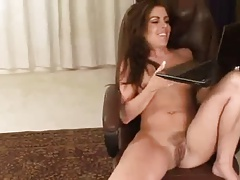 Estonian housewife fingering her pussy on Skype